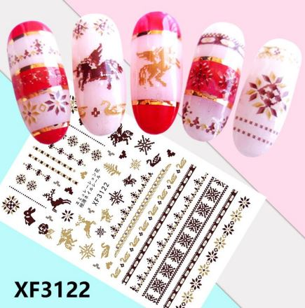 Nail Sticker - Design F3122