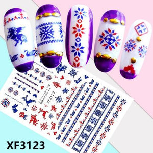 Nail Sticker - Design F3123