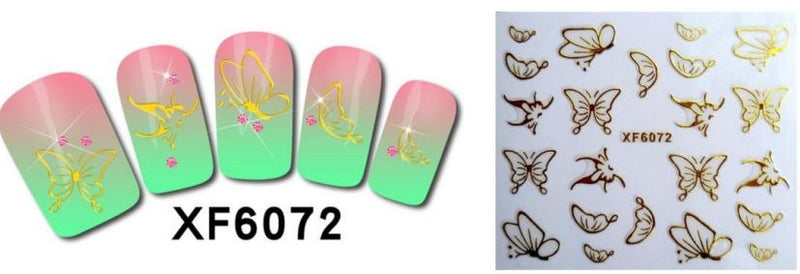 Nail Sticker - Design F6072