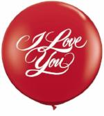 "90cm Latex print - ""I Love You"" Red pkt 1"
