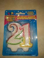 Rainbow Number Candles - Double