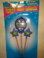 Happy Birthday - 3 pick candles