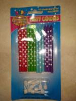 Slim polka dots with holders 12 pkt