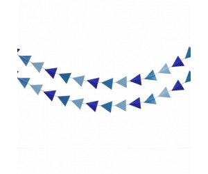 Deluxe Shaped Garland - Pastel Blue/True Blue Mix