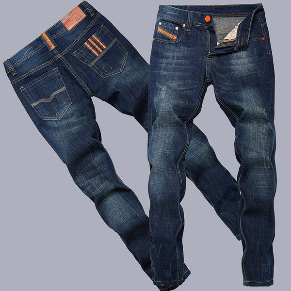 Cotton straight Thin models Europe and America men jeans