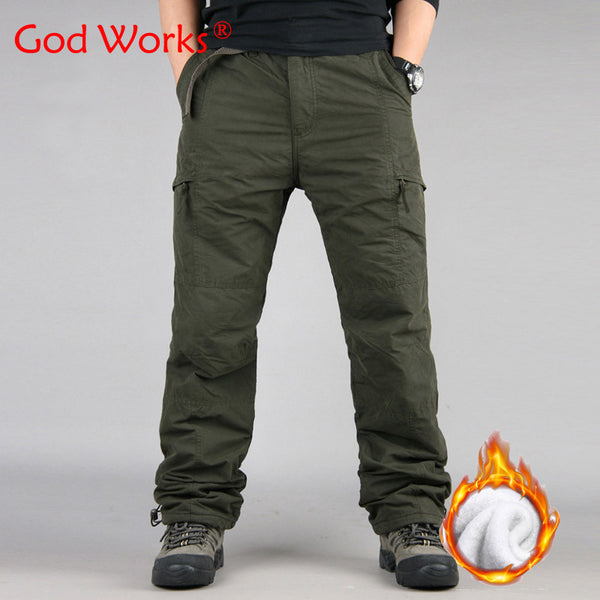 Winter Double Layer Men's Classic Cargo Pants
