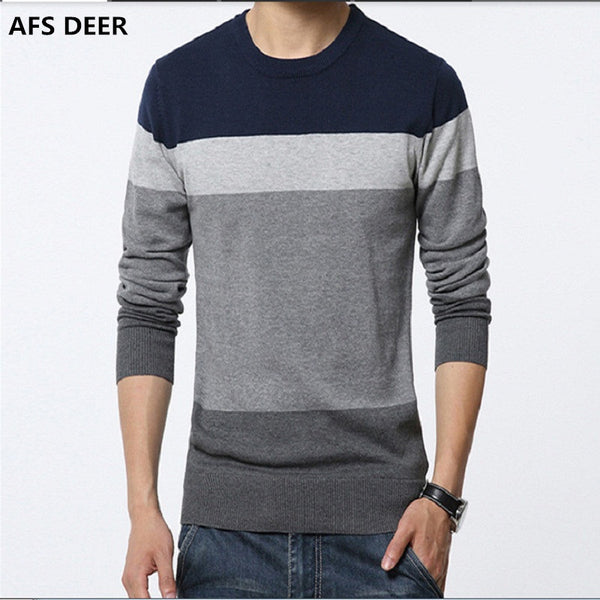 Men's Slim fit round neck sweater