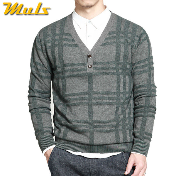 100% cotton knitted winter sweater