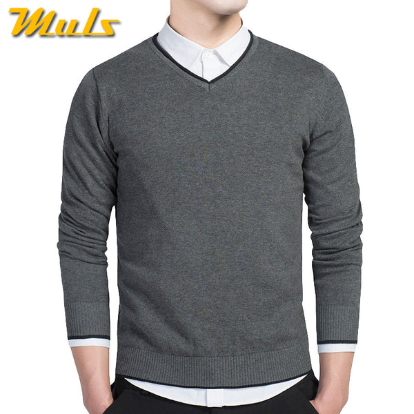 V neck mens sweaters