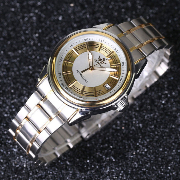 Stainless steel men casual dress watches
