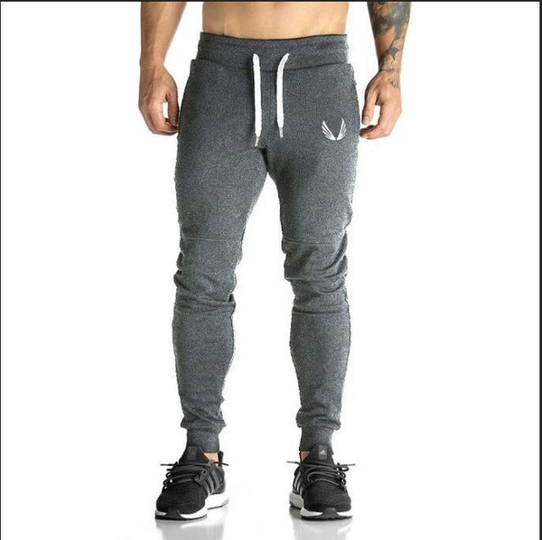 Casual Elastic cotton Mens Fitness Workout Pants