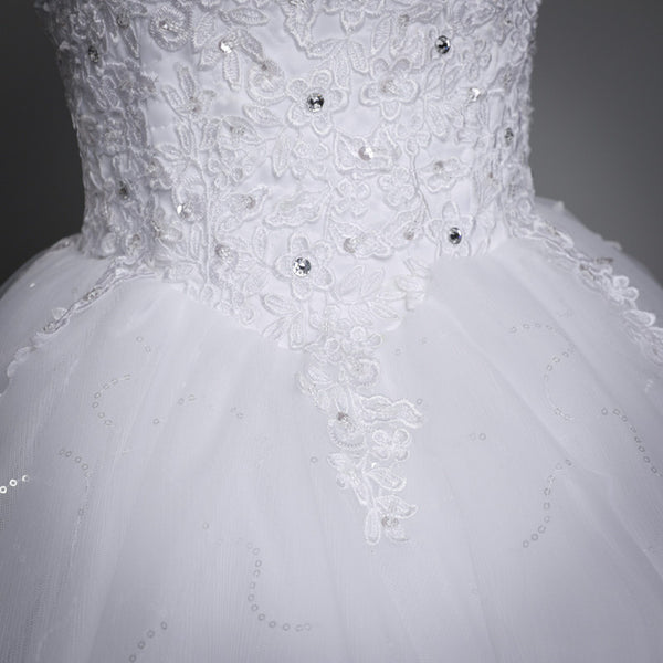 Lace Up Ball Gown Quality Wedding Dresses