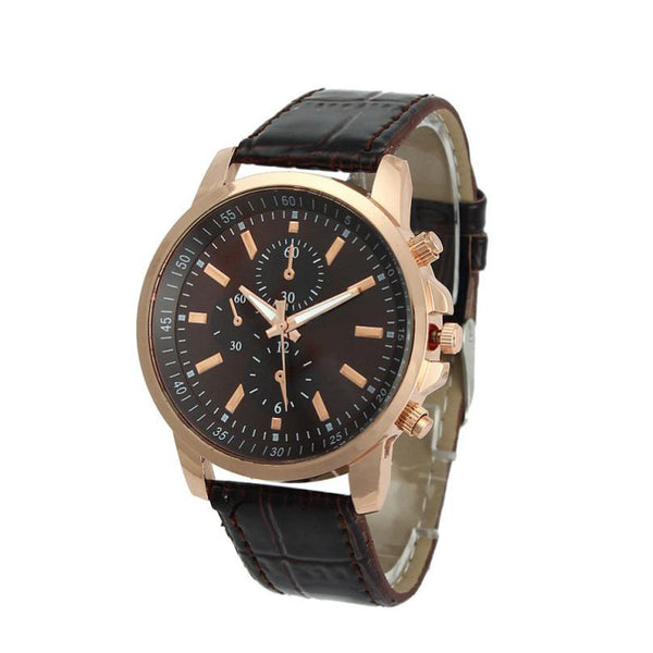 Luxury Quartz Leather Strap Wristwatches