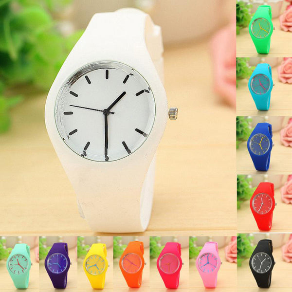 Leisure Sports Candy-colored Jelly quartz-watch