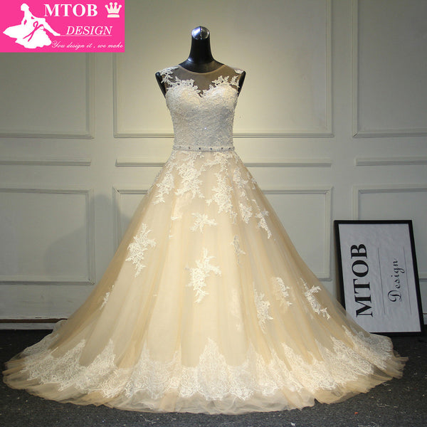 A-Line Lace Wedding Dress