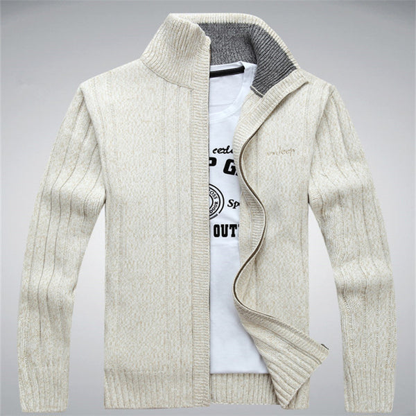 NIANJEEP Winter Cardigan Men Wool Cotton Mens Fashion Sweaters Man's Knitwear Clothes Sweatercoats 203