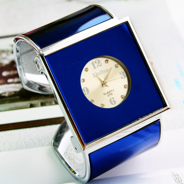 Square Dial Quartz Bangle Gift Watch For Women