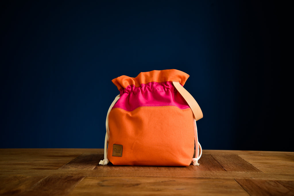 Maxi Project Bag - Orange-Pink