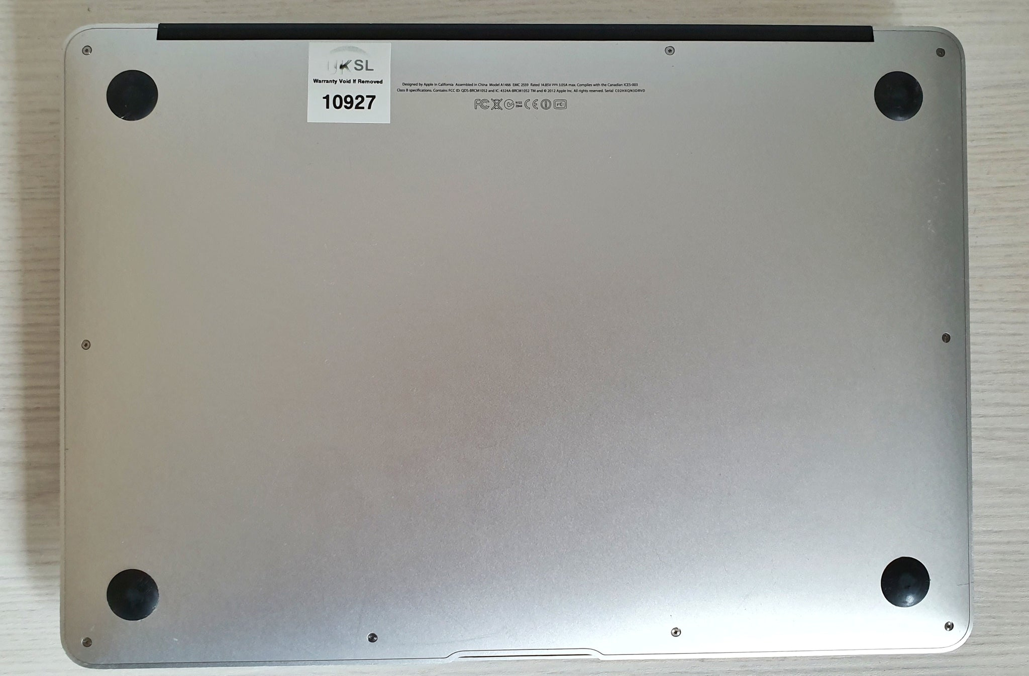 "2012 MacBook Air 13"" A1466 i5 4GB 256 SSD #10927"