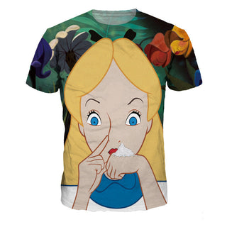 Alice in Wonderland parody/spoof cocoland T-shirt snorting cocaine