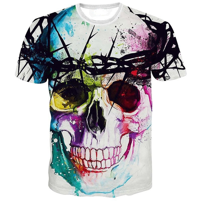 Rainbow Skull Rave T-Shirt