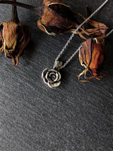 Silver rose necklace - Arborea Jewellery