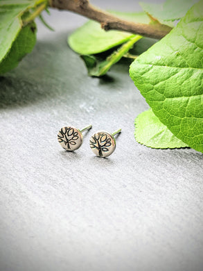 Tree ear studs - Arborea Jewellery