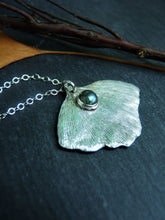 Gingko labradorite leaf necklace - Arborea Jewellery
