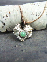 Green jade fine silver leaf necklace - Arborea Jewellery