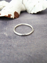 Hammered silver ring - Arborea Jewellery