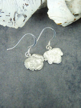 Ivy-leaved speedwell fine silver dangly earrings - Arborea Jewellery