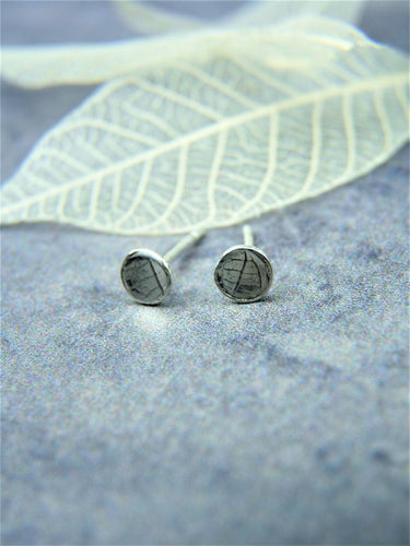 Leaf print ear studs - Arborea Jewellery