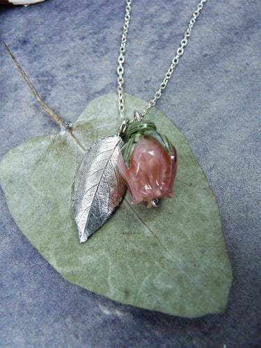 Rose silver necklace - Arborea Jewellery