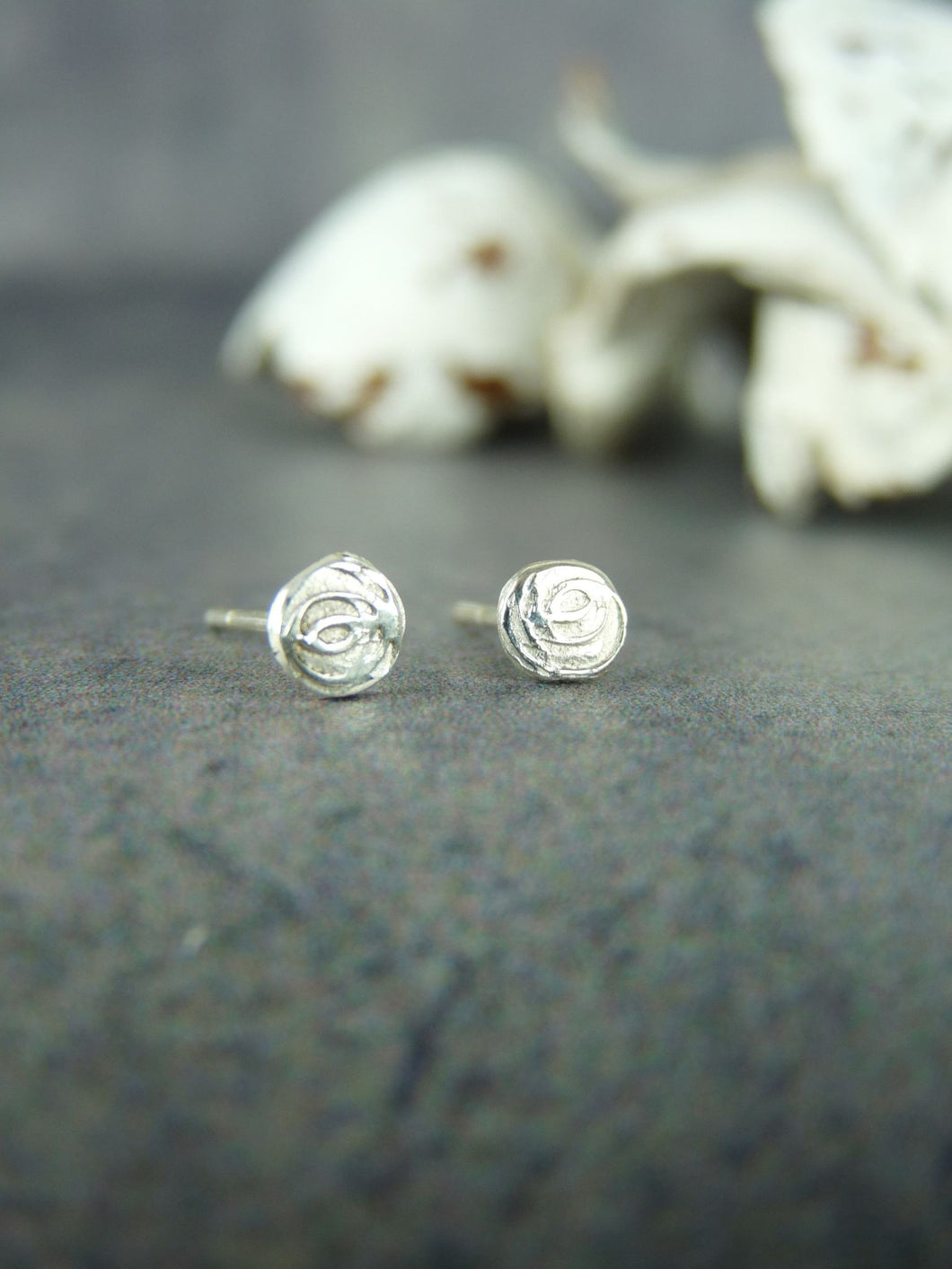 Rose stud earrings - Arborea Jewellery