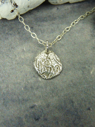 Rustic silver floral necklace - Arborea Jewellery
