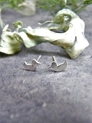 Silver duck earrings - Arborea Jewellery