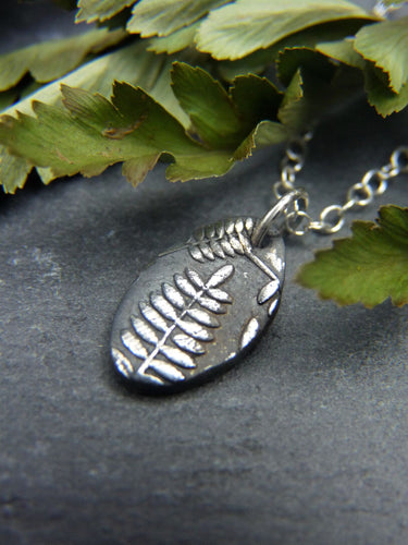 Silver fern necklace - Arborea Jewellery
