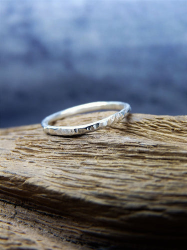 Textured silver ring - Arborea Jewellery