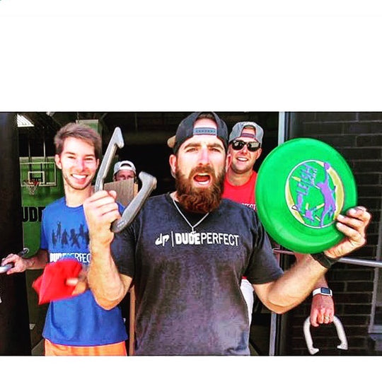 Dude Perfect play outdoor lawn game Bottle Bash