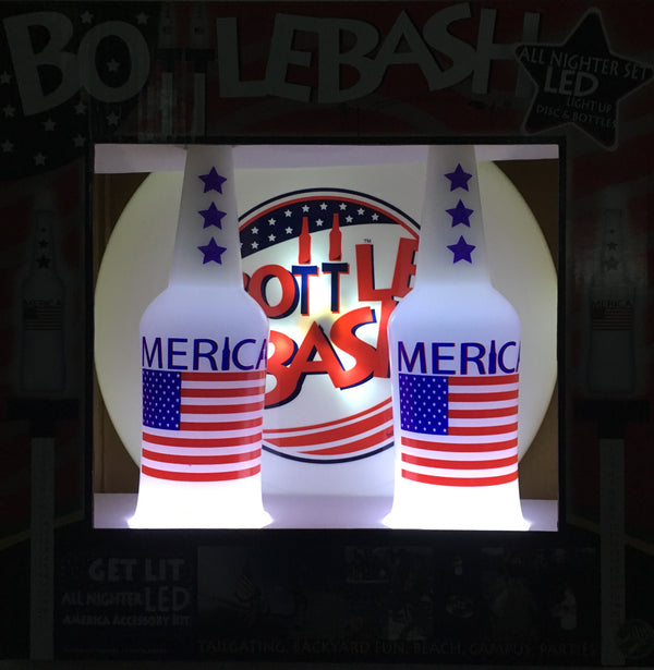 "Bottle Bash USA LED ""GET LIT"" Stars and Stripes Accessory"
