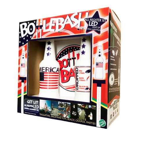 "Bottle Bash America GET LIT ""LED"" Stars and Stripes Accessory"