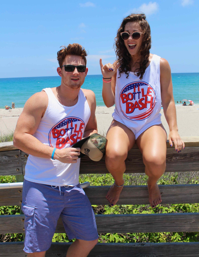 Bottle Bash RED WHITE AND BLUE tank
