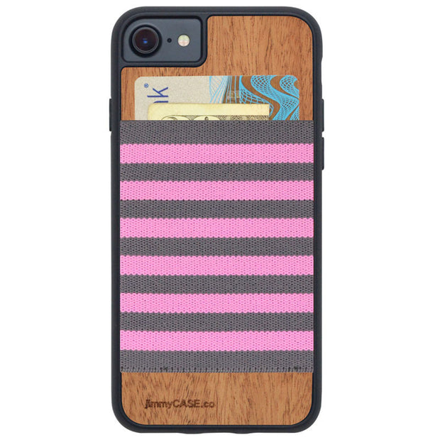 iPhone 7 Grey Pink Stripes