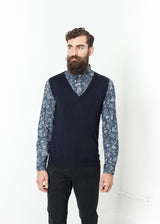 Basic Gilet in Navy