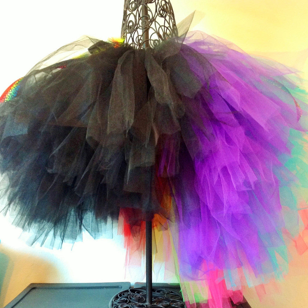 82287dab1 Teens and Women's Fun and Funky Rainbow Tail Layered Tulle Tutu Skirt - Tutu  Heavenly Creations