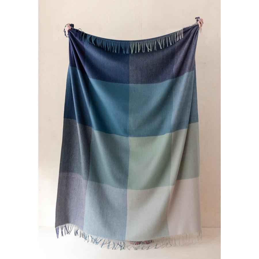 Lambswool Blanket in Coastal Ombre-Throws-Holistic Habitat