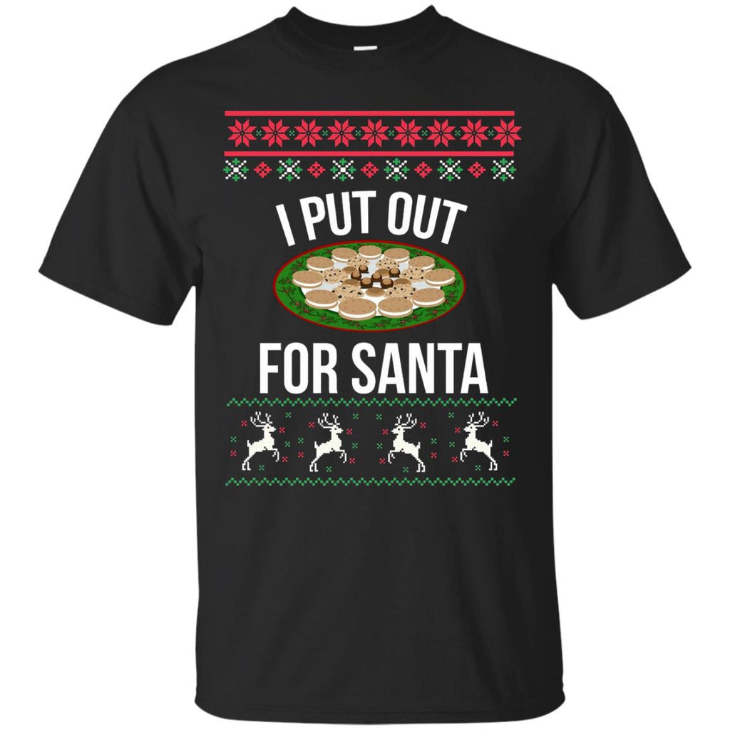 I Put Out For Santa Funny Ugly Christmas Sweater Susantee
