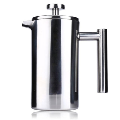 1000ml Stainless Steel French Cafetiere Permanent Coffee Filter Basket Espresso Tea Maker Double Wall Percolator Tool Coffee Pot1000ml Stainless Steel French Cafetiere Permanent Coffee Filter Basket Espresso Tea Maker Double Wall Percolator Tool Coffee Pot