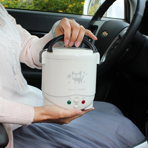 1L Rice Cooker 12V/24V/110V/220V For Car/Truck/House Mini Lunch Box Food Heater Steamer For 1-2 People With English Instructions1L Rice Cooker 12V/24V/110V/220V For Car/Truck/House Mini Lunch Box Food Heater Steamer For 1-2 People With English Instructions