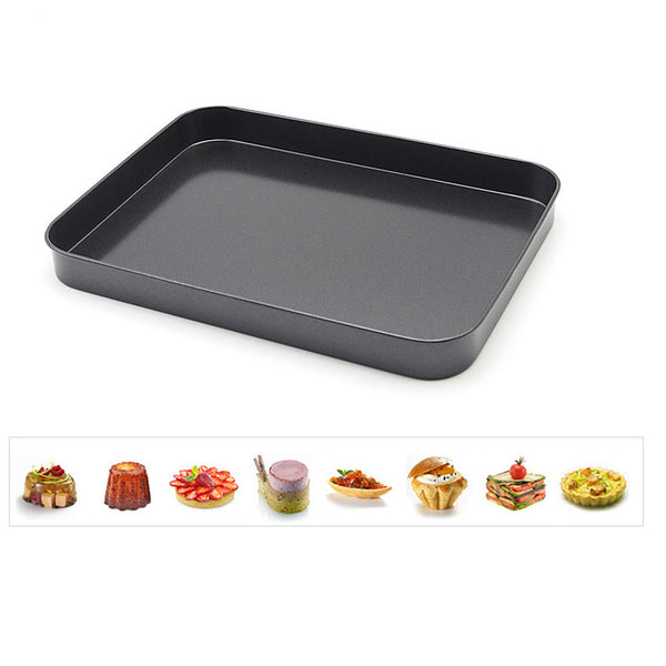 1Pcs Baking Pan, Non-stick Carbon Steel Cookie Sheet Pan, FDA Approved for Oven Roasting Meat Bread Jelly Roll Battenberg